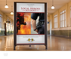 f & m bank checking account poster